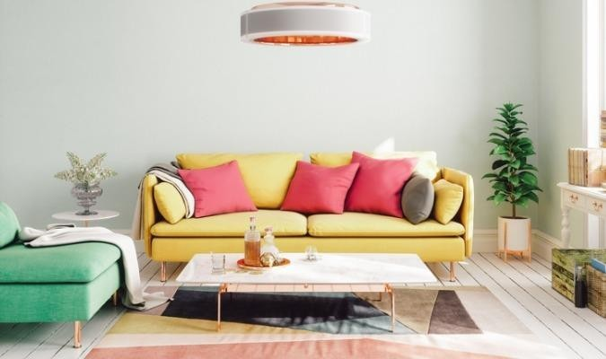 Colourful and bright living room
