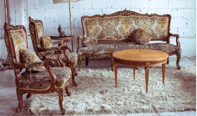 Patterned 18th Century Upholstery Fabric Furniture