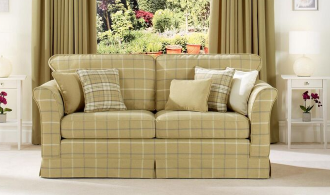 Mull check upholstery fabric