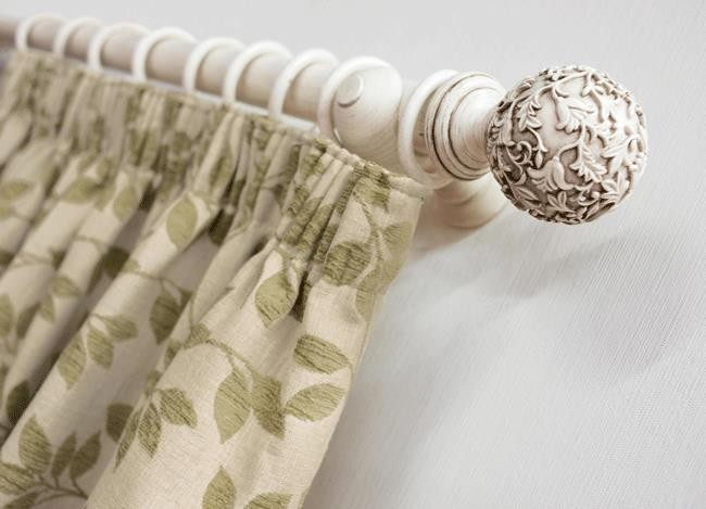green pencil pleat curtain
