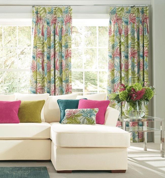 tropical pinch pleat curtains