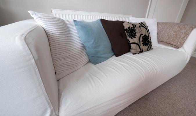White non-slip sofa covers (1)