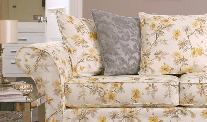 Lemon Cherry Blossom sofa cover