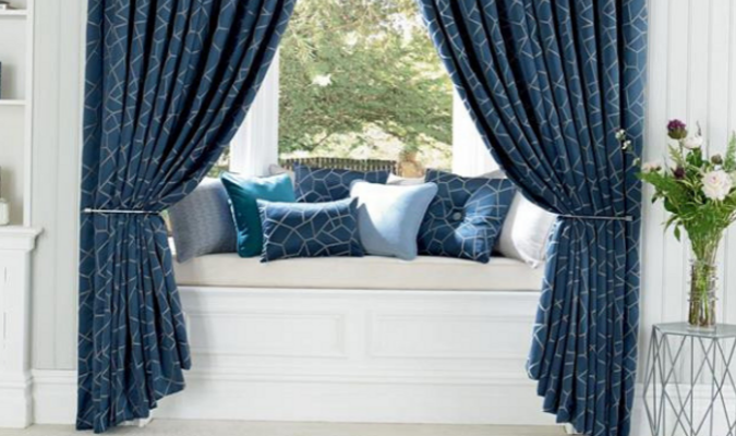 Glacier curtain fabric