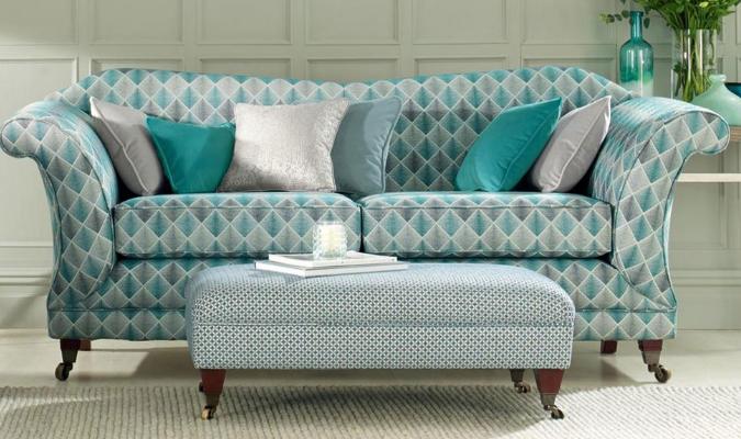 Zodiac geometric upholstery fabric