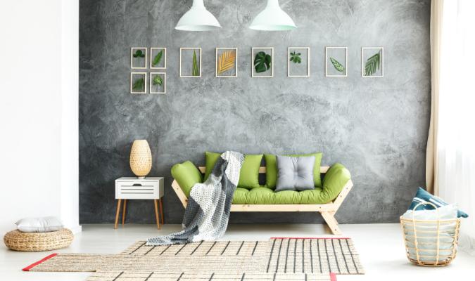 Autumn living room decorating sofa