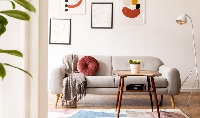 Decluttered minimalist living room ideas