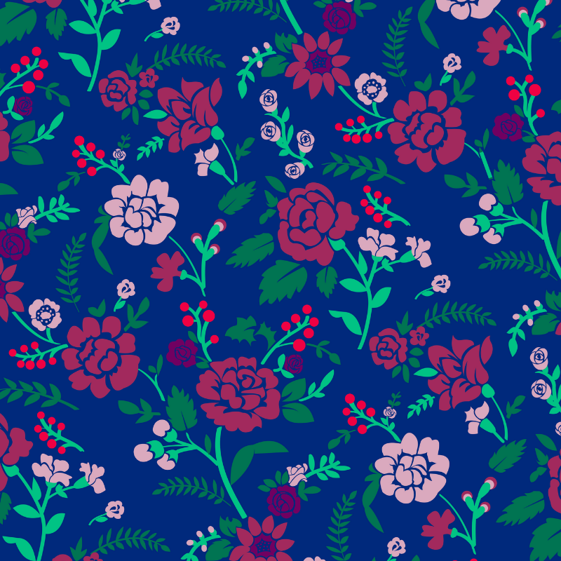 Find the crayon in the floral wallpaper