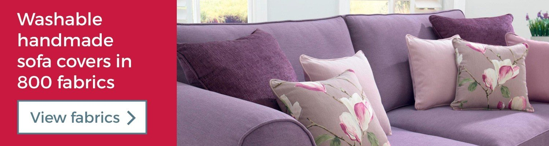 Washable handmade sofa covers in 800 fabrics