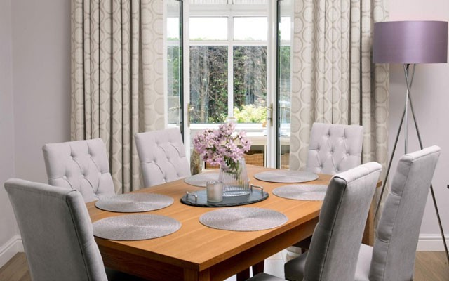 Coordinated Dining Chairs And Curtains